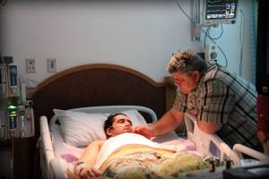 A father's love... at one of his worst moments after coming out of sedation