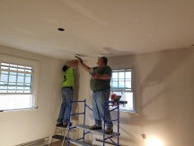 spackling the ceiling