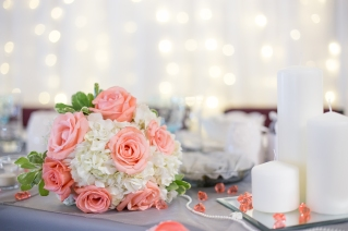 One of the beautiful bridal bouquets